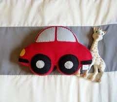 Felt Car Plush Toy Kids Room Decor Car Bedroom Car Shaped Pillow Kid S Bedding Transportation T Kid Room Decor Car Themed Nursery Toddler Pillow