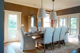 pendant lights light gray dining chairs