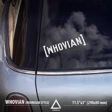 Whovian Hoonigan Style Doctor Who Tardis Car Vinyl Sticker Decal Ebay