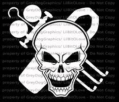 Hvac Skull Viny Decal Sticker Rhvac Ac Heat Refrigerator Etsy