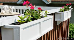 Deck Railing Planter Boxes Along Fence Oscarsplace Furniture Ideas