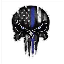 Thin Blue Line Decal Police Punisher Skull Vinyl Decal Sticker Punisher Skull Decal Skull Decal Skull Sticker