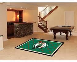 Amazon Com Fanmats Boston Celtics 5 X8 Rug Sports Fan Area Rugs Kitchen Dining