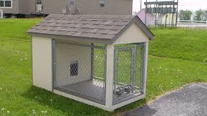 Extra Large 8 X 4 Dog Kennel Dog House With Fenced In Floored Pen Amish Made Amazon Co Uk Pet Supplies