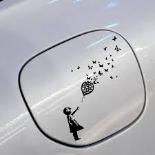 Buy 2 Pieces Car Sticker Banksy Girl Butterfly Balloon Design Car Window Sticker Decal Car Sticks Decals At Jolly