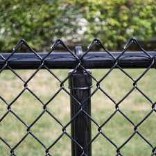 Yardgard 4 Ft X 50 Ft 9 Gauge Black Chain Link Fabric 308864a The Home Depot