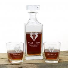 personalised engraved decanter set with
