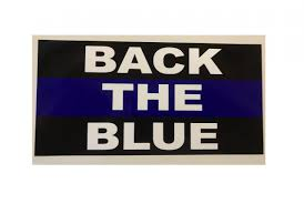 Back The Blue Police Thin Blue Line Flag Bumper Sticker Ultimate Flags
