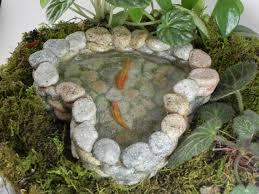 fairy garden koi pond miniature with