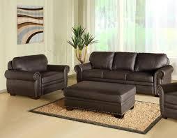 3 piece espresso leather oversized sofa