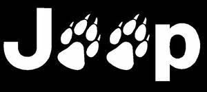 Jeep Wolf Paws Tracks Car Window Wall Laptop Vinyl Decal Sticker You Pick Color Ebay