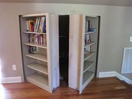 knee wall storage bookcase door