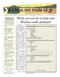 November 2013 - Newsletter by Washoe Tribe of Nevada and California - issuu
