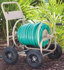 4 wheel garden hose reel cart