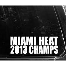 White Color Miami Heat Champions Decal S Buy Online In Burundi At Desertcart