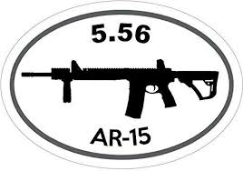 5 56 Ar 15 Gun Silhouette Vinyl Decal Wickedgoodz
