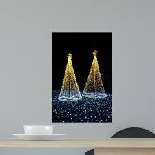Led Christmas Tree Night Wall Decal Wallmonkeys Com