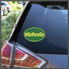 Nfl Green Bay Packers Gopackgo Decal Or Car Magnet