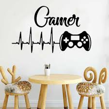Gamer Wall Sticker Room Decoration Game Room For Kids Room Wall Murals Boys Bedroom Decor Gaming Poster Wallpaper Wall Stickers Aliexpress