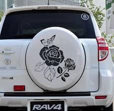 Car Decals Rose Flower 21 X22 Vinyl Hood Spare Tire Motor Truck Sticker Cg252 Car Stickers Aliexpress