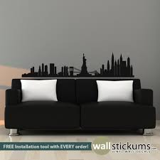 New York Skyline Wall Decal Geographical Wall Decals By Wallstickums Com