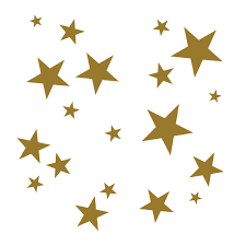 Sale Gold Star Wall Decals
