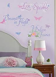 disney fairies wall stickers quotes decals tinkerbell room decor