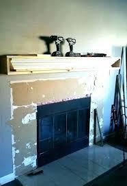modern fireplace shelf ideas