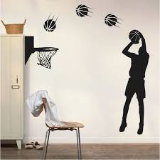 Basketball Player Wall Applique Trendy Wall Designs Basketball Wall Decals Basketball Wall Wall Appliques