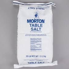 morton 25 lb bulk non iodized table salt