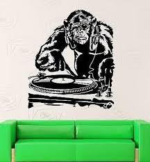 Amazon Com V Studios Wall Sticker Vinyl Decal Monkey Dj Music Night Club Party Vs1895 Home Kitchen