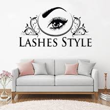 Super Promo 724d22 New Design Lashes Style Eyelash Decals Studio Window Beauty Salon Sticker Beatutiful Woman Eyebrows Brows Murals Stickers Lc1357 Cicig Co