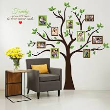 Large Brown And Green Family Tree Wall Decal For Family Historians Tree Chasers