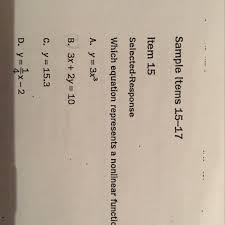 which equation represents a non linear