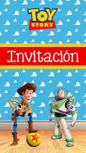 Tarjeta De Invitacion Animada De Toy Story En 2020 Invitaciones