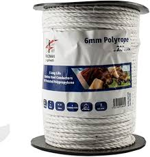 Fenceman Polyrope Electric Fence Wire 6mm Amazon Co Uk Garden Outdoors
