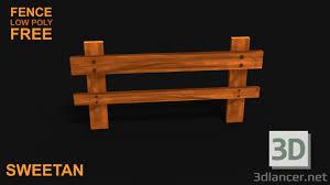 3d Model 3d Wooden Fence Game Asset Low Poly 3dlancer Net