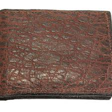 genuine elephant leather bifold wallet
