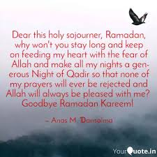 dear this holy sojourner quotes writings by anas musa