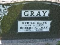Myrtle Olive Gray (McColm) (1925 - 1995) - Genealogy