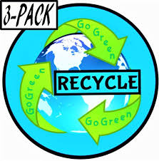 Amazon Com Recycle Stickers 3 Pack Premium Vinyl Recycling 4 X 4 Decal For Trash Can Car Bumper Window Laptop Water Bottle Hydro Flask Save The Planet Earth Climate Change Vote Joe Biden