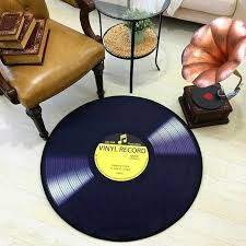 Soft Velvet Fabric Music Record Player Circular Floor Mat Pad Carpet Bedroom Kids Room Home Living Rug Best Gift Music Lovers Rug Aliexpress