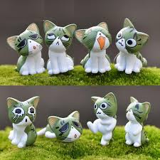 cats kitty statue miniatures resin