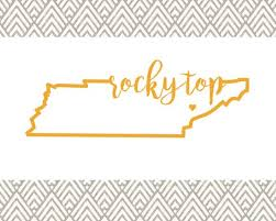 Rocky Top Tennessee Car Decal Home Sweet Home Knoxville Customizable Personalized State Decal Water Bottle Decal Yeti Decal Tennessee Car Decals Cricut Vinyl