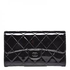 chanel patent calfskin quilted large