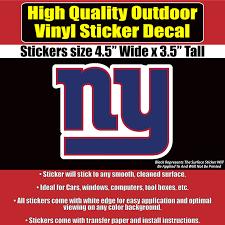 Football Nfl New York Giants Logo Car Decal Vinyl Sticker White 3 Sizes Sports Mem Cards Fan Shop Cub Co Jp