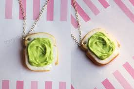avocado on toast necklace food
