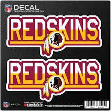 Washington Redskins 6 X 6 Two Tone Repositionable Decal 2 Pack Set
