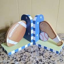 Home Goods Accents Sports Bookends Kids Room Football Baseball Poshmark