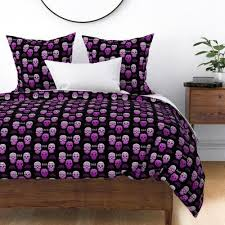 sugar skull purple ombre spoonflower